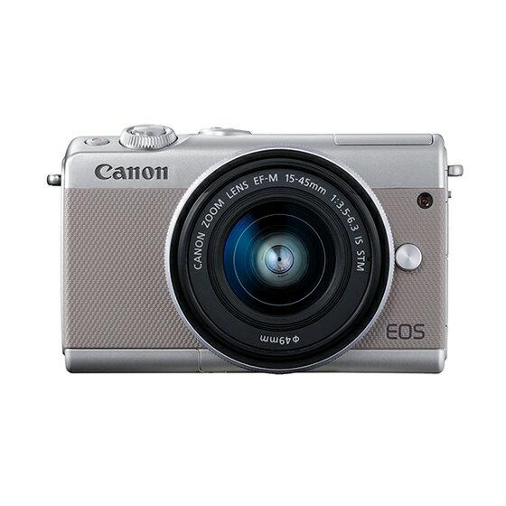 Canon キヤノン EOS M100・EF-M15-45 IS STMレンズキット GY(グレー) ミラーレスカメラ