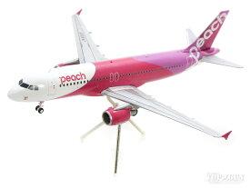 エアバス A320 ピーチ・アビエーション JA801P 1号機 (スタンド付属) 1/200 ※金属製 2019年4月12日発売 Gemini200/ジェミニ200飛行機/模型/完成品 [MM20001]
