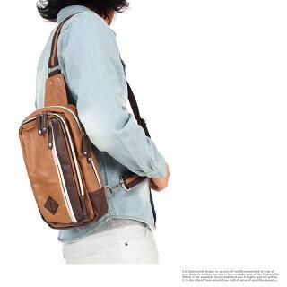 ボディバッグメンズバッグショルダーバッグフェイクレザーワンショルダーボディーバッグボディバック小物カバンかばん鞄男性用メンズファッション小物あす楽