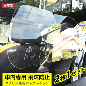 [日本製](2枚1セット)掛け式 車用 パーテーション 仕切り板 車内の飛沫ブロッカー お車に応じた (車向け 飛沫防止用 透明 アクリル板) 横幅60cmタイプ タクシー 介護車両 営業車 家庭用乗用車 車内飛沫防止 運転席[受注生産、返品不可] icp-b6050