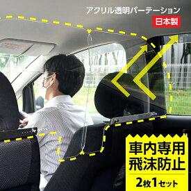 [日本製](2枚1セット)ねじ止め式 車内の飛沫ブロッカー !お車に応じた (車向け 飛沫防止用 透明 アクリル板) 横幅60cmタイプタクシー 介護車両 営業車 家庭用乗用車 車内飛沫防止 運転席[受注生産、返品不可] icp-l6049