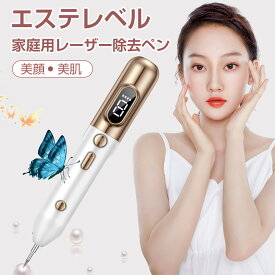 レーザーペン ほくろ除去ペン 美顔器 そばかす 除去ツール 2021最新液晶ペン シミ取り イボ シミ ほくろ除去 ミニケア 美肌 美顔 多段階調節 スポットペン 家庭用 USB充電式 ペンタイプ 使いやすい LEDランプ付 日本語説明書付