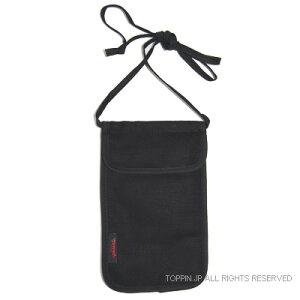 旅行用品 スキミング防止ネックポーチ ブラック 06590