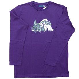 ラフマ Lafuma ストーニー ロングスリーブTシャツ クエッチプラム Lサイズ LFV01104-2599
