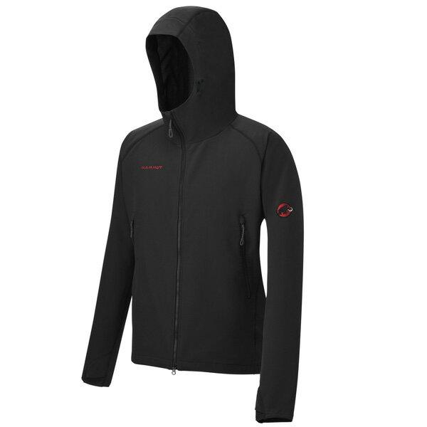 マムート SOFtech CLIMB Light Hooded Jacket Men ブラック ユーロMサイズ(日本L)1010-23000-0001