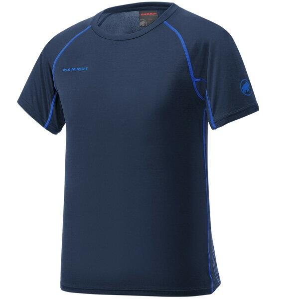 マムート MAMMUT 男性用Tシャツ COOL TOP T-Shirts Men マリン ユーロSサイズ(日本M)1041-08600-5118