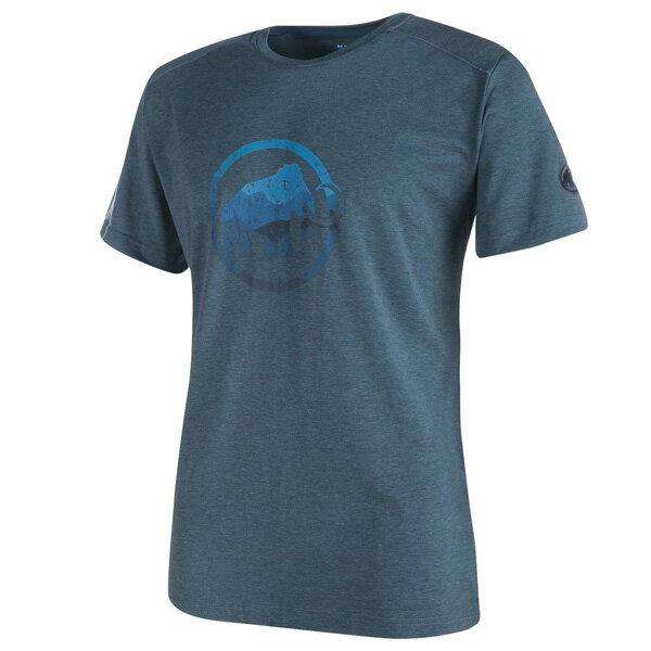 マムート MAMMUT 男性用Tシャツ Trovat T-Shirt Men オリオンメランジェ ユーロMサイズ(日本L)1041-09860-5869