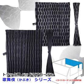 雅 歌舞伎(かぶき) ベッドリアカーテン 1000×750mm 2枚入