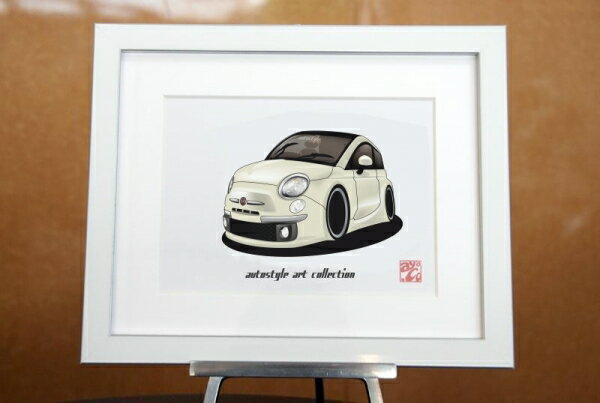 AutoStyle Art Collection FIAT 500 ファンクホワイト