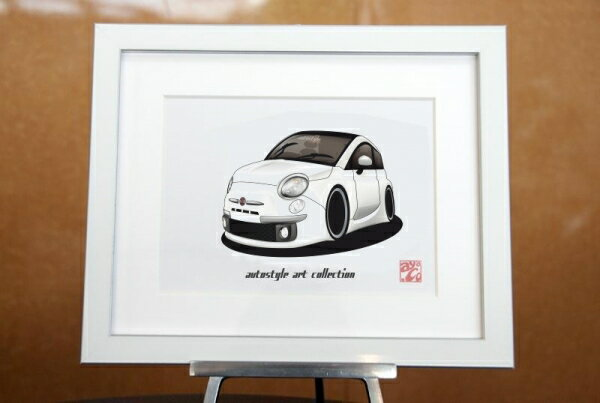 AutoStyle Art Collection FIAT 500 ボサノバホワイト