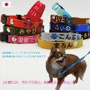 犬 迷子札 刺繍 首輪 軽量 Sサイズ 日本製 迷子札首輪 小型犬 猫 名前入 名入れ 電話番号 刺繍首輪 ネーム首輪 首周り16cmから制作 迷子札付きチョーカー ネームタグ メール便送料無料 TO