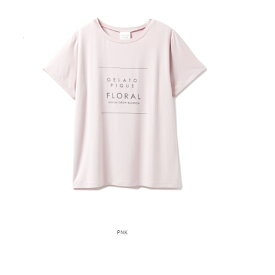 ジェラートピケ  ボタニカルレーヨンロゴTシャツ PWCT201270 ピンク PNK ルームウェア パジャマ フリーサイズ gelato pique Tシャツ レーヨン ボタニカル ナイトウェア セット ジェラピケ