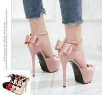 パンプスストラップ結婚式キャバ靴ヒール14.5cmパンプス痛くないチャーム付きキラキラサンダ靴22~24.5cmサイズシンプル靴サンダル歩きやすいヒール厚底ドレスキャバパーティー2次会