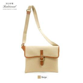 【正規販売店】スロウ トラディショナル フラップショルダーバッグ サコッシュ Cotton Serge Flap Shoulder Bag SLOW TRADITIONAL 306ST03H