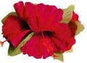フラダンス衣装 髪飾り 花飾り ハイビスカス ヘアクリップ レイ イベント フラ CL-01-WT ラージハイビスカスクリップ  レッド 赤
