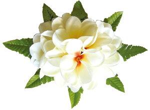 フラダンス衣装 髪飾り 花飾り プルメリア ヘアクリップ レイ イベント フラ CL-35 アロハプルメリアクリップ ホワイト 白