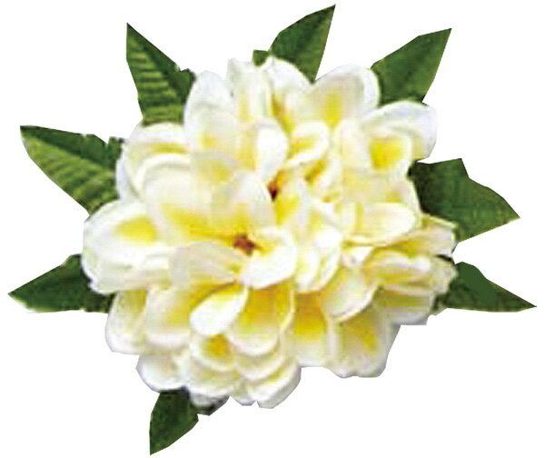 フラダンス衣装 髪飾り 花飾り  プルメリア ヘアクリップ レイ イベント フラ CL-35 アロハプルメリアクリップ   ホワイト イエロー 白 黄