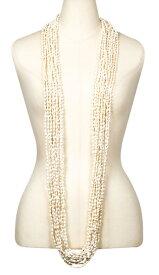 フラダンス衣装 レイ シェル ククイナッツ アクセサリー ネックレス チョーカー ブレスレット  ハワイ イベント フラ ロングレイ KS-14 NASAシェルレイ