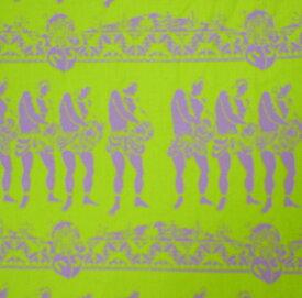 フラダンス用品 ハワイアン ファブリック FN007 ナケウ・アヴァイ生地 メレ・フラダンサー (色:キウイ・ラベンダー)