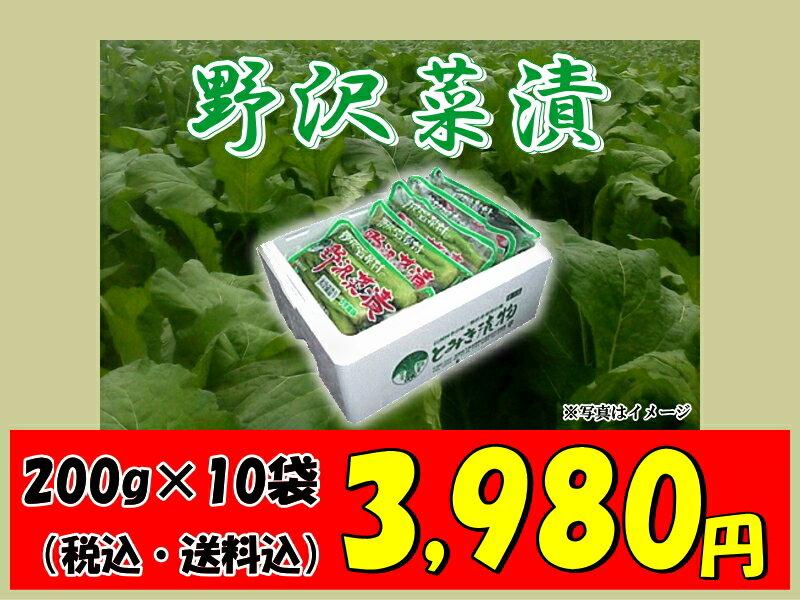 野沢温泉村 とみき漬物  「野沢菜漬」10袋 【楽ギフ_のし】