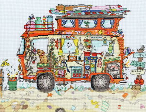 Bothy Threads クロスステッチ刺繍キット 「Cut Thru' Camper Van」 XCT16 キャンピングカー ボシースレッズ 【海外取り寄せ/納期40〜80日程度】