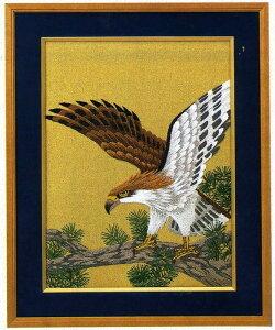 東京文化刺繍キット BSK-107 「老松と鷹」(3号)