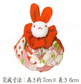 地球屋 TKY-24 「お月見うさぎ」 絹地を使用したつるし飾りキット 桃の節句 ちりめん手芸