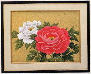 東京文化刺繍キット BSK-094 「紅白牡丹」(3号) ぼたん ボタン