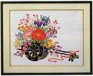 東京文化刺繍キット BSK-468 「花車」(4号)