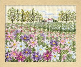 奧林巴斯十字繡刺繡套件 7310 棉山的宇宙 (米色)