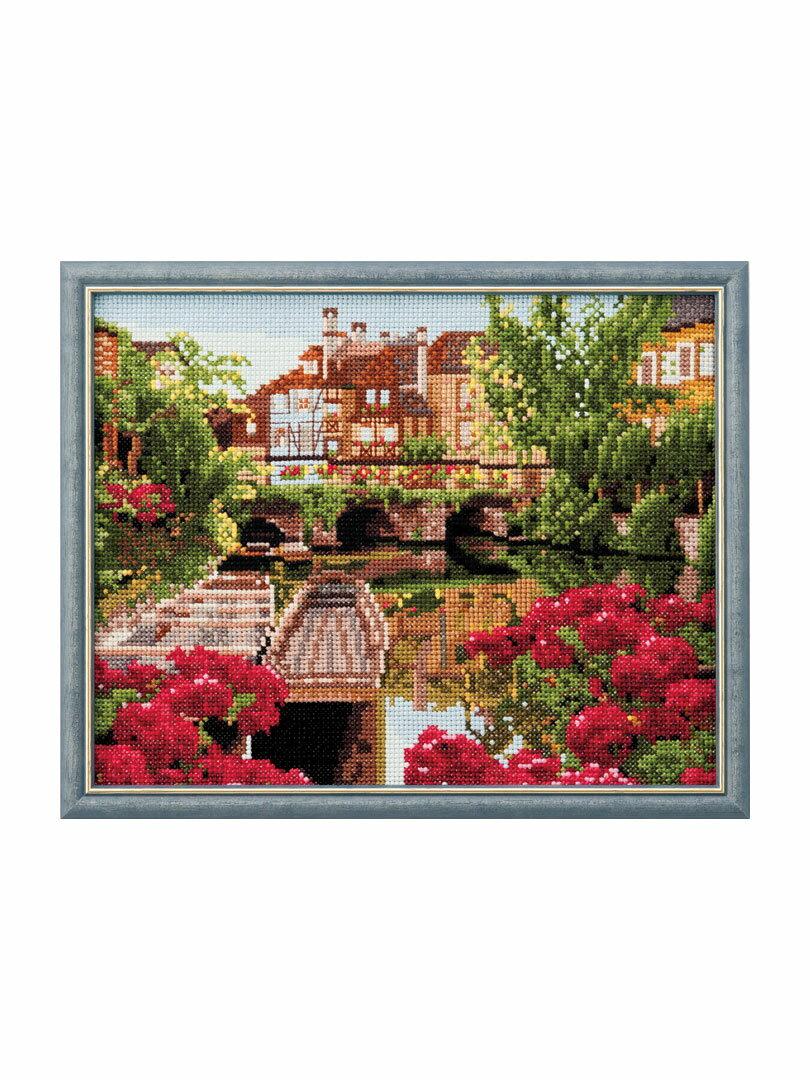 Cosmo(ルシアン) クロスステッチ刺繍キット No.714 「ローシュ川から」フランスの風景 シリーズ Paysages de France コスモ Lucian