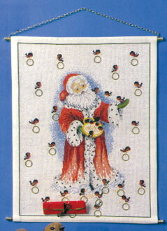 Embroidery kit Christmas Christmas Santa Claus Advent Calendar made in  embroidery maker