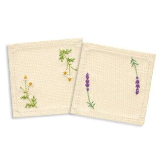 奥林巴斯法国绣花套件 9030 (杯垫) 药草亲爱的花园我甜美的花园棉的青木和子法国绣套件