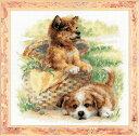 RIOLISクロスステッチ刺繍キット No.1390 「Tender Age」 (犬)