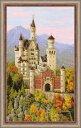 RIOLISクロスステッチ刺繍キット No.1520 「Neuschwanstein Castle」(ノイシュヴァンシュタイン城 ドイツ) ノイシュバンシュタイ...