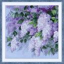 RIOLISクロスステッチ刺繍キット No.1533 「Lilacs after the Rain」 (雨上がりのライラック) 【海外取り寄せ/納期1〜2か月】