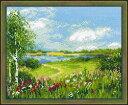 RIOLISクロスステッチ刺繍キット No.1604 「Path to the Lake」 (湖への道) 【取り寄せ/納期1〜2ヶ月】