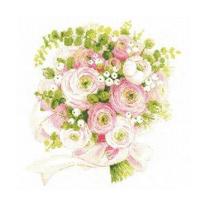 RIOLISクロスステッチ刺繍キット No.1867 「Wedding Bouquet」 (ウェディング・ブーケ 結婚式) 【海外取り寄せ/納期30〜60日程度】