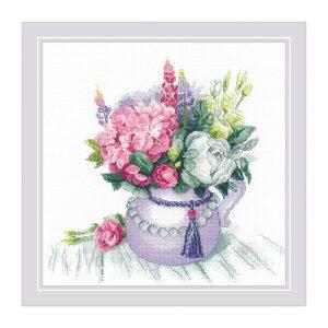 RIOLISクロスステッチ刺繍キット No.1931 「Floral Charm」 (フローラル・チャーム) 【海外取り寄せ/納期30〜60日程度】