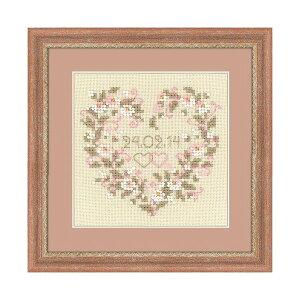 RIOLISクロスステッチ刺繍キット No.1405 「From all Heart」 (ウェディング) 【海外取り寄せ/納期30〜60日程度】ウェルカムボード リース
