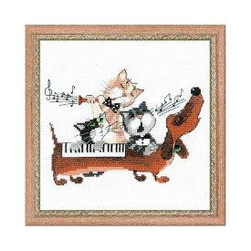 RIOLISクロスステッチ刺繍キット No.1495 「Dachshund Blues」 (ダックスフントのブルース) 猫 犬 ネコ イヌ ねこ いぬ 【海外取り寄せ/納期30〜60日程度】