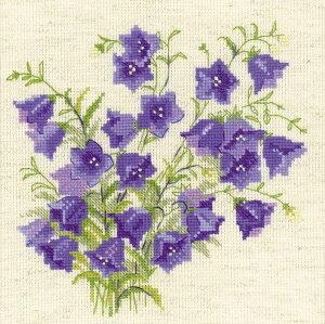 RIOLISクロスステッチ刺繍キット No.1557 「Bellflower」 (キキョウ 桔梗 ききょう 花) 【海外取り寄せ/納期30〜60日程度】