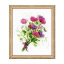 RIOLISクロスステッチ刺繍キット No.1606 「Bouquet with Sweet Peas」 (スイトピーのブーケ 花束) 【海外取り寄せ/納…