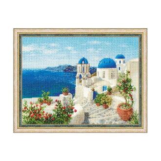 "RIOLIS十字花刺綉刺綉配套元件No.1644""Santorini""(santonini島希臘)"