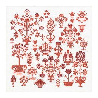"Thea Gouverneur十字花刺綉刺綉配套元件No.2092""Antique Flower Sampler""(古董·花·樣品花)orandatea·guverunuru"