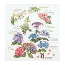 Thea Gouverneur クロスステッチ刺繍キットNo.3067 「Hydrangea Panel」(紫陽花のパネル アジサイ あじさい 花) オランダ ...