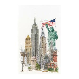 """努尔十字绣刺绣套件 No.471""""纽约""""(美国纽约) 荷兰西娅-gouvernur"""