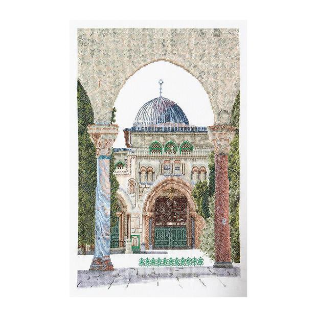 Thea Gouverneur クロスステッチ刺繍キットNo.534 「Al-Aqsa Mosque」(アル=アクサー・モスク イスラム寺院 イスラエル エルサレム イェルサレム) オランダ テア・グーヴェルヌール 【取り寄せ/納期40〜80日程度】