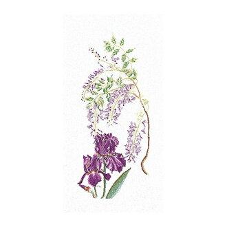 "Thea Gouverneur十字花刺綉刺綉配套元件No.825""Wisteria-Iris""花藤和airisuorandatea·guverunuru"