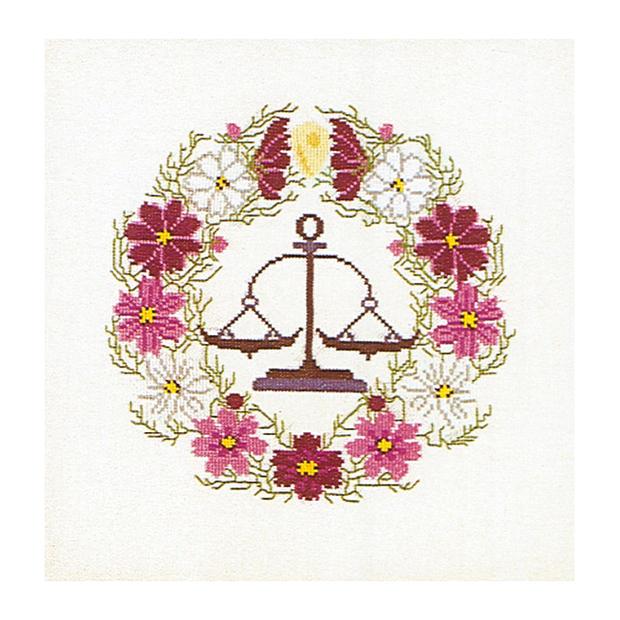 Thea Gouverneur クロスステッチ刺繍キットNo.858 「Libra」(てんびん座 天秤座) テア・グーヴェルヌール 【取り寄せ/納期40〜80日程度】